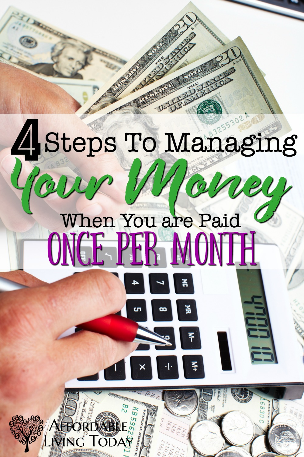 When you are only paid once per month, it can be hard to make the money last. Here are some great tips for keeping on tabs of your budget with one paycheck.