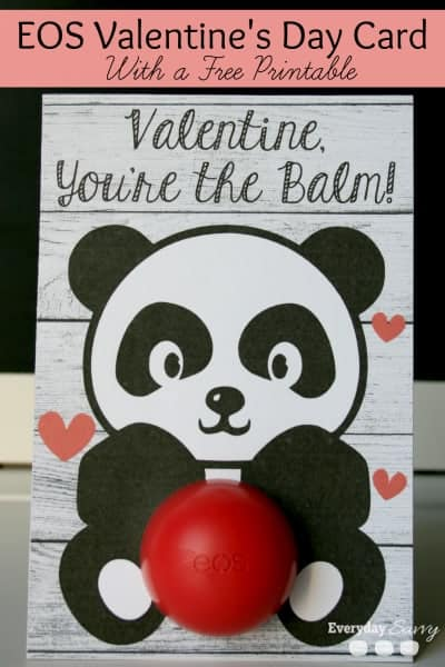 EverydaySavvy.com Lip Balm Valentine Card