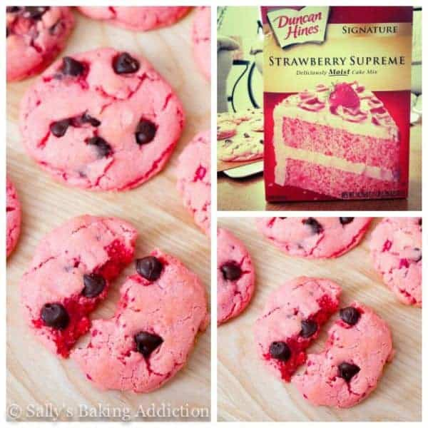 Strawberry Chocolate Chip Cookies by Sally's Baking Addiction