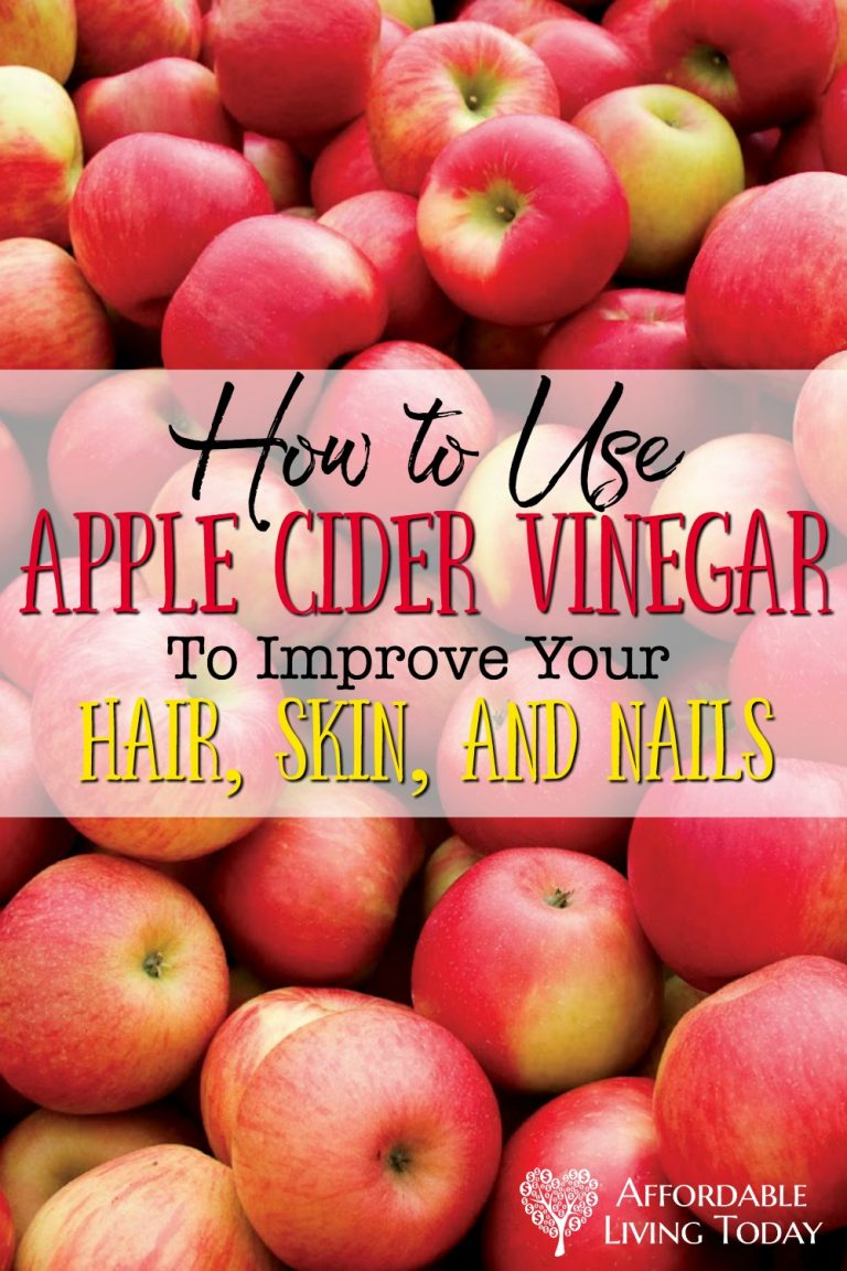 Apple cider vinegar has many healing properties. It can also be used to improve the look and health of your hair, skin, and nails.