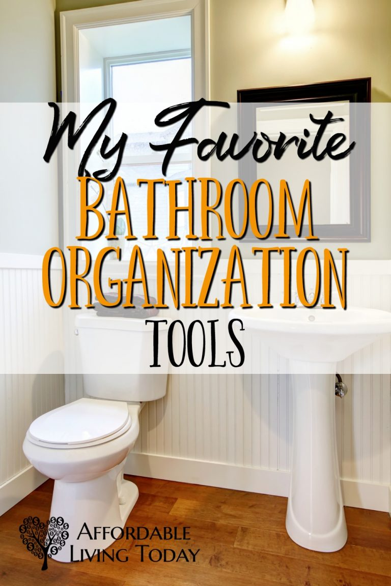 Small bathrooms can be a real pain to organize. Here are some of my favorite tools for organizing bathroom spaces.