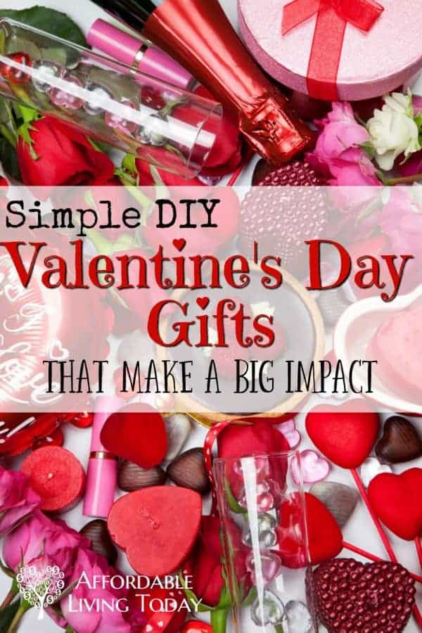 Make a big impact on Valentine's Day with these simple DIY Valentine's Day gifts.