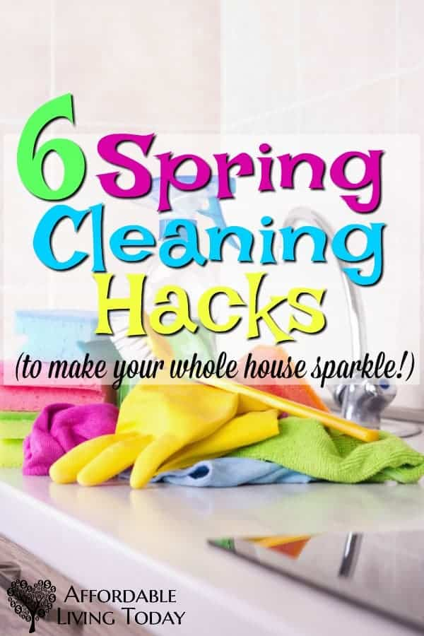 Spring cleaning is not a chore most of us look forward to. Here are 6 spring cleaning tips to help you get your house in tip top shape!