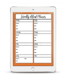 This downloadable weekly meal planner will make meal planning simple and fast.