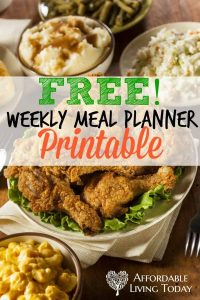 Weekly meal planning doesn't have to be hard! Download this free printable and get started with your own meal planning today.