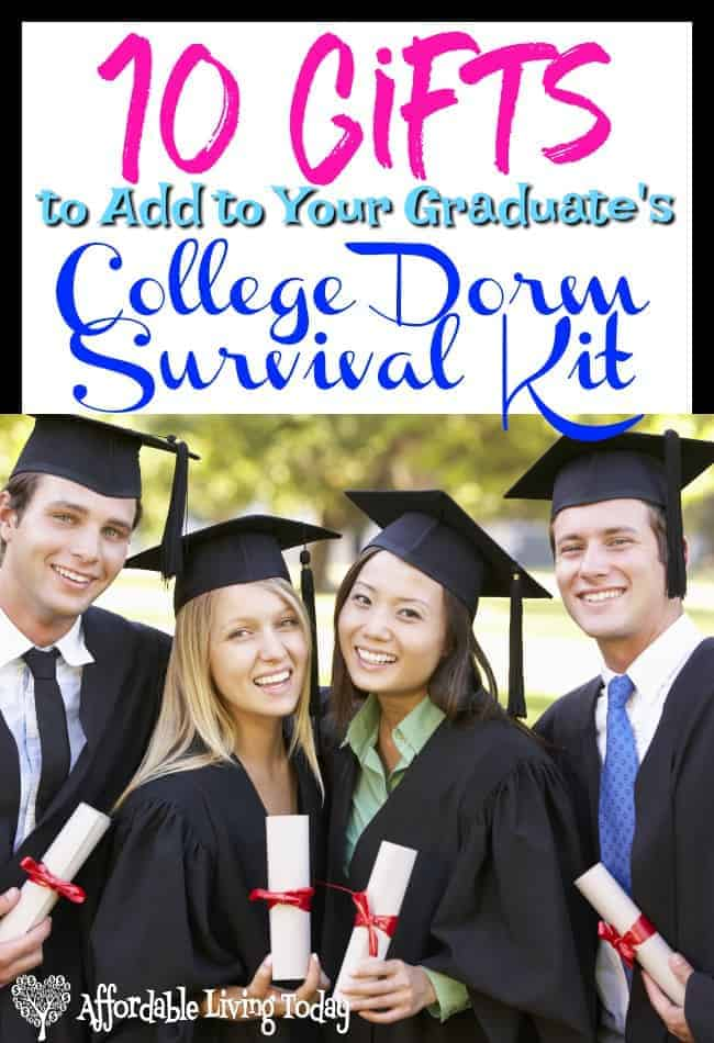 If you are looking for some great gifts for your recent high school graduate, check out these practical but necessary items for a dorm survival kit.