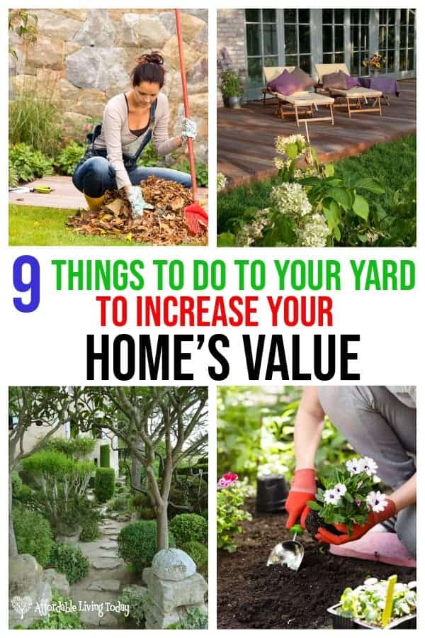 If you are selling your home, these 9 tips for improving your yard can help improve your home's value and may help sell it faster. Take a look!